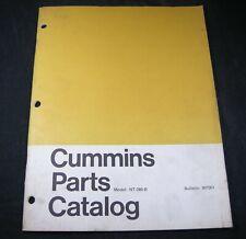 Cummins Model NT280B Diesel Engine Parts Manual Catalog Book NT-280-B OEM