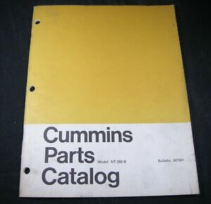 Cummins Model NT280B Diesel Engine Parts Manual Catalog Book NT-280-B OEM