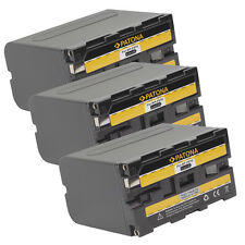 3x PATONA Batteria per SONY NP-F960 NP-F970 NP-F950 DCR-VX2100 HDR-FX1