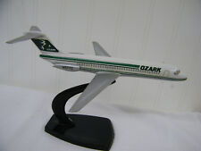 Vintage Ozark Airlines Douglas DC-9 Plastic Airplane  With Desk Stand