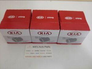 GENUINE ENGINE OIL FILTER X 3EA SUITS KIA RIO 2005-2010 1.6I PETROL