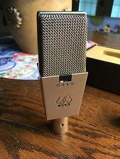 AKG C414 EB VINTAGE SILVER MICROPHONE w/MIC HOLDER - NICE!