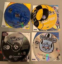 Sega Dreamcast Game Lot x4 NFL 2k2 NFL 2K Crazy Taxi Rippin Riders EUC