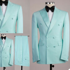 Double Breasted Coat Men Suits Jacket Blazer Pants Wedding Outwear Prom Tuxedos