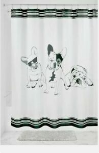 Interdesign French Bulldog Fabric Shower Curtain