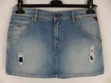REPLAY - cooler Jeansrock  30  blau neu m. Etikett  destroyed Effekte Minirock