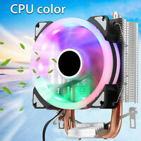 RGB LED CPU Cooler Fan For Intel LGA 1155/1151/AMD AM3/AM2+/S-754/Core i3 i5 i7