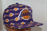 Los Angeles Lakers Mitchell & Ness NBA All Over Pattern Snapback,Cap,Hat     NEW