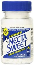 Necta Sweet Sugar Substitute Tablets, 1/2 Grain, 500 Count Bottle