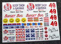 RC Vintage style 'BUDGET BUG' Decals stickers Rough Rider BAJA Scorcher