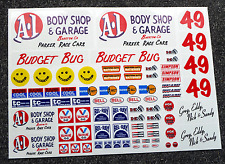 "RC vintage style' budget bug ""stickers autocollants Rough Rider BAJA Scorcher"