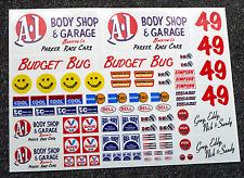 RC Vintage style 'BUDGET BUG' Decals stickers Rough Rider BAJA Scorcher