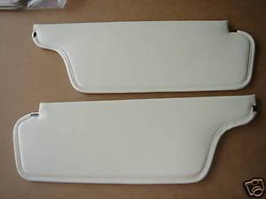 Mopar 68 Roadrunner GTX Charger White Sunvisors NEW