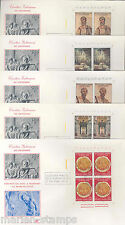VATICAN CITY APOSTLES PETER & PAUL CORNER BLOCKS   FIRST DAY COVERS  SC #448/52