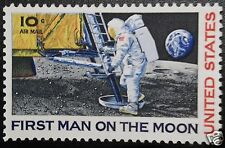 First man on the moon Neil Armstrong NASA Apollo 11 astronaut step 1969 stamp