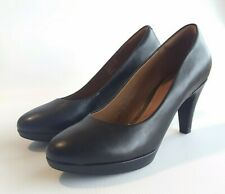 CLARKS Collection Women's Black Viola Pump Heels Soft Cushion size 10 - EUC!