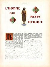 ▬► CLIPPING L'homme qui resta debout Paul WENZ Illustrations Léon CARRÉ 4 pages