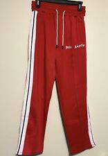 AUTHENTIC PALM ANGELS New Palm Angels Red Track Pants - Size Medium