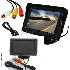"4.3"" LCD Car Reverse Rear View HD Monitor kit for Backup Night Vision Camera Cam"