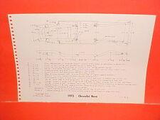 1973 CHEVROLET NOVA SS CUSTOM MONTE CARLO S LANDAU COUPE FRAME DIMENSION CHART