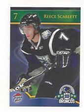 2010-11 Swift Current Broncos (WHL) Reece Scarlett (Texas Stars)