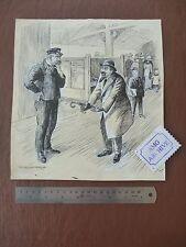 Irate Commuter an original artwork by SLADE ARTIST Harold Duke Collison-Morley (