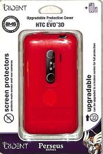Trident Perseus Red Skin Gel Case Screen protector for HTC EVO 3D