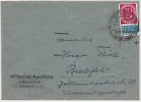 Germany 1951 Obligatory Tax Aid For Berlin Slogan Cancel Stamps Cover Ref 24177