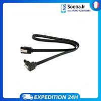 Câble Cordon SATA III 45cm Verrouillable Pour Disque Dur et SSD 6Gb/s Noir