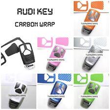 Audi Advanced Key Carbon Decal Sticker Fob Keyring Overlay A4 S4 Q7 TT RS A5 S5