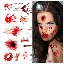 Newest Temporary Tattoo Fake Horror Wound Realistic Blood Scar Halloween Sticker