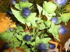 Artificial Thistle Flower Scotland's Wild Blue With 6 Heads