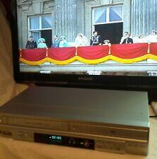 Symphonic UDV680 VCR DVD Combi 6 Head VHS Video Recorder Silver No Remote.