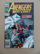 Avengers West Coast 62 . Marvel 1990 . FN +