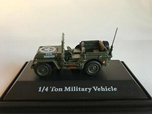 Jeep CJ-5 1/4 Tonne US Armée 1944 Cararama Véhicule Modèle 1:72