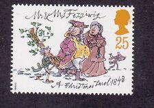 GB Charles Dickens-Mr & Mrs fizziwig-a Christmas Carol - 1993 25p STAMP Gomma integra, non linguellato