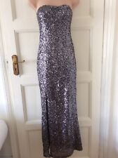 OH MY LOVE Stunning Maxi Strapless Sequined Dress Size XS/6-8