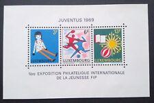 1969 Lussemburgo SOUVENIR SHEET-Gioventù & Leisure inutilizzati-JUVENTUS philatic EXH
