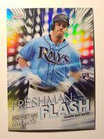 2020 Topps Chrome Freshman Flash Brendan McKay Tampa Bay Rays #FF-6 Rookie Card