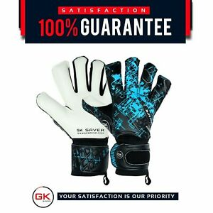 Gk Saver Prime Pro 03 Black/Blue Football goalkeeper Gloves