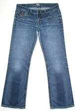 Madison Denim Junior Womens Jeans Low Stretch Distressed Boot Size 5 6 R 31x31