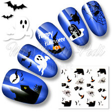 Nail Art Water Decals Transfers Stickers Ghosts Witches Haunted Halloween K189