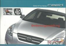 Kia Cee 'd manual de instrucciones de 2008 ceed manual de instrucciones manual bordo libro ba