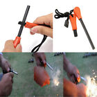 Camping Steel Flint Stone Rod Fire Starter Lighter Magnesium Survival Tool qin