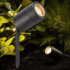 Black Adjustable Garden Outdoor Spike Spot Light GU10 IP65 3M Pre Wired Cable