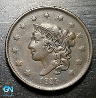 1835 N7 DOUBLED PROFILE Coronet Head Large Cent   --  MAKE US AN OFFER!  #K3557