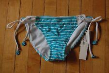 Sperry bikini bottom, nwt, small, side ties, white and aqua/turquoise blue