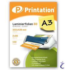 Printation Laminierfolien A3 2x 80my 426 X 303mm - 1000 Laminiertaschen