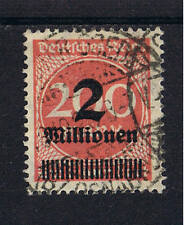 Imperio alemán o MiNr examinado 309y 2 millones de marcos inscripciones marca cual cubrirá Zee.
