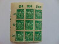 Bogenteil Deutsches Reich 40 Mark, 1922, Mi 244 a, Plattenfehler 244 II